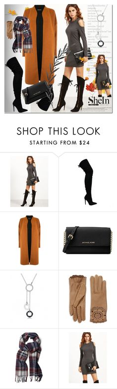 """""""shein"""" by ilona-828 ❤ liked on Polyvore featuring Warehouse, Michael Kors, Burberry, GANT, dress, polyvoreeditorial and shein"""