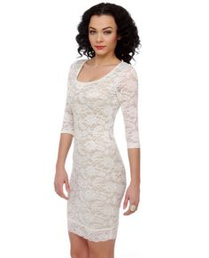 Harmony Notes Ivory Lace Dress