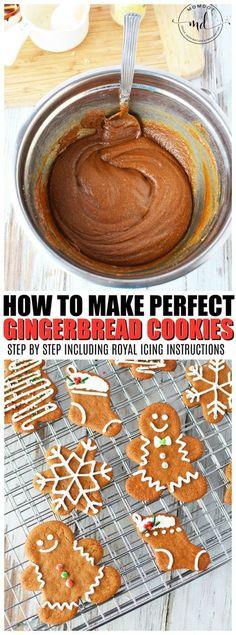 Easy Gingerbread Cookie Recipe   How to make Gingerbread Men Cookies. #Christmas #Yule #desserts