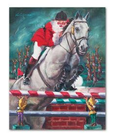 Holiday Jump Off Horse Christmas Cards By Celeste Susany More Equestrian Humor