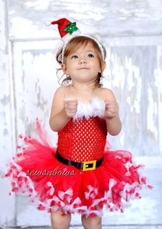 Hey, I found this really awesome Etsy listing at https://www.etsy.com/listing/157342929/christmas-santa-tutu-with-santa-hat