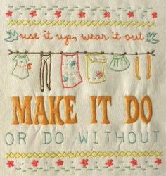 Make it Do Embroidery Pattern from Sarah Jane Studios