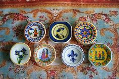 Love love love these miniature plates!! French made, hand painted.