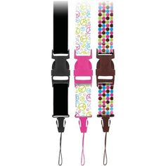Camera Fashion Neck Straps Pack of 3 (Peace Signs, Dots & Chic Black) Lanyard Keychain, Pink Accessories, Dog Harness, Gadgets, Dots, Packing, Belt, Chic, Peace Signs