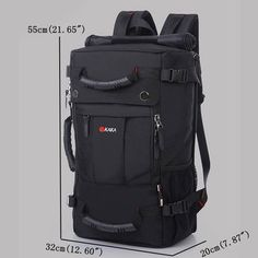 Oxford Backpack Casual Travel Single-shoulder Crossdody Bag Multi-functional Laptop Bag For Men is high-quality. Shop on NewChic and buy the best mens backpack for yourself Mobile. Cool Backpacks For Men, Men's Backpacks, Outdoor Backpacks, Waterproof Laptop Backpack, Laptop Bag, Computer Backpack, Oxford, Commuter Bag, Hiking Backpack