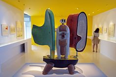 """A wooden sculpture by Le Corbusier in the exhibition """"La question du brutalisme"""" in Marseille. The exhibition opened on October 11 and lasts until the end of December. AFP PHOTO / BORIS HORVAT."""