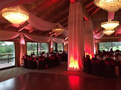 Date: 02/06/2016 Location: Countryside Country Club Client: Erica Rogers - David McEnery Event Type: Wedding Services: Draping, Lighting