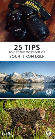 25 Ways to Up Your Camera Game if Youre Shooting with a Nikon DSLR - Nikon - Trending Nikon for sales. - Did you just get a new DSLR? Dive in and take your photography to the next level with 25 Nikon DSLR tips to get the most out of your new camera. Dslr Photography Tips, Photography Cheat Sheets, Photography Lessons, Photography For Beginners, Photography Equipment, Photography Tutorials, Digital Photography, Photography Hashtags, Photography Backgrounds