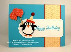 Owl Punch Party Penguin by mandypandy - Cards and Paper Crafts at Splitcoaststampers