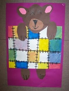 The grade students learned about and looked at the artwork created by Piet Mondrian. They learned the three primary colors: red, yellow,. Kindergarten Art Lessons, Art Lessons Elementary, First Grade Art, Bear Art, Preschool Art, Art Lesson Plans, Art Classroom, Art Plastique, Art Activities