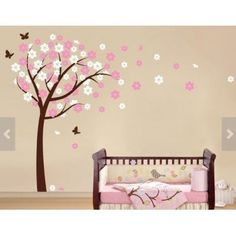 Nursery Wall Decals   Baby Garden Tree Wall Decal For Boys And Girls Nursery.  Tree Wall Decal With Flying Birds | Garden Trees, Wall Decals And Nursery Part 58