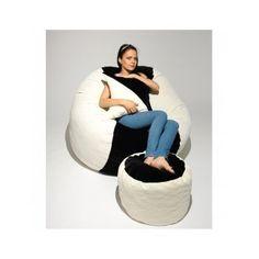 Set de fotoliu King Size Black and White puf alb cu negru King Size, Bean Bag Chair, Black And White, Black N White, Black White, Beanbag Chair, Bean Bag