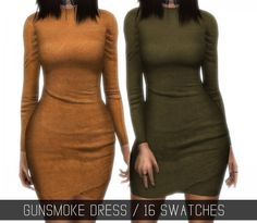 Simpliciaty: Gunsmoke Dress • Sims 4 Downloads
