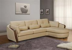 Ontario Taupe Full Bonded Leather Sectional