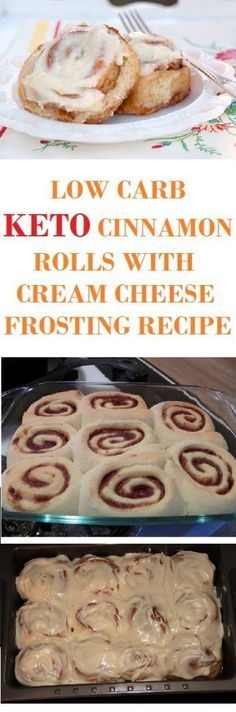 LOW CARB, KETO CINNAMON ROLLS WITH CREAM CHEESE FROSTING RECIPE #paleodietbreakfast