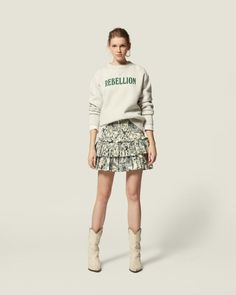 Are you looking forSHORT SKIRT Women by Isabel Marant? Find out all the details on our official online store and shop now your fashion icon. Isabel Marant, Short Skirts, Mini Skirts, Skirt Outfits, Printed Cotton, Style Icons, New Look, Sequin Skirt, Summer Outfits