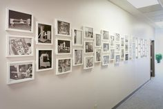 Photography Wall - rame albe, cu foto color