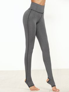 Shop Grey Marled Knit Topstitch Stirrup Leggings online. SheIn offers Grey Marled Knit Topstitch Stirrup Leggings & more to fit your fashionable needs.