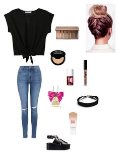 """""""Casual Days"""" by alexisarbuckle ❤ liked on Polyvore featuring WithChic, Alexander Wang, Topshop, Urban Decay, NYX, Benefit, Juicy Couture and Maybelline"""