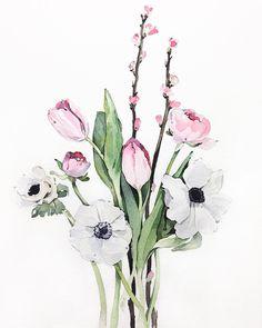 Pintura floral