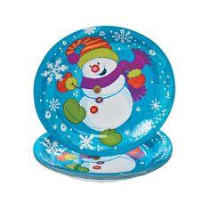 Snowman Dessert Plates