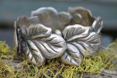 Taxco Sterling Silver Leaf Bracelet