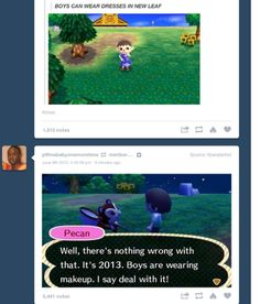 my acnl character – potato – is always wearing skirts and dresses. he looks so c… my acnl character – potato – is always wearing skirts and dresses. he looks so cute Related posts:dance. Professor Layton, Geeks, Animal Crossing Funny, Ac New Leaf, Pokemon, City Folk, Animal Games, Gaming Memes, Best Games