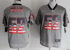 Nike San Francisco 49ers #52 Patrick Willis 2014 USA Flag Fashion Gray Elite…