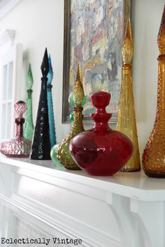 One Room - Three Ways!  Check out 21 uniquely decorated rooms from 7 Fabulous Bloggers!  eclecticallyvintage.com