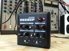 MeeBlip anode synthesizer. $139.95 (or less)   Compact bass synthesizer with MIDI and an analog filter, independently made in Canada by Blipsonic and CDM (createdigitalmusic.com). Open source hardware.