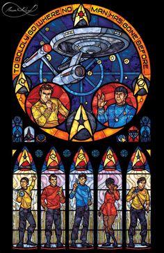 Full Size Star Trek Original Series vidrieras por 0ShardsofColor0