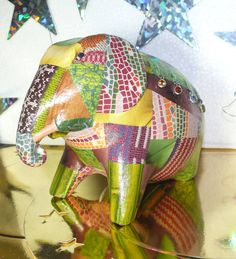 """A unique creation with stones of Cambodia mounted on white gold-plated silver (10 hours of work).  Silk & Pepper adds a """"touch of elegance"""" ORIGINAL & UNIQUE CREATIONS FOUND ONLY AT SHOP SILK & PEPPER Created and made by Valérie.B. #Elephants #PhnomPenh"""