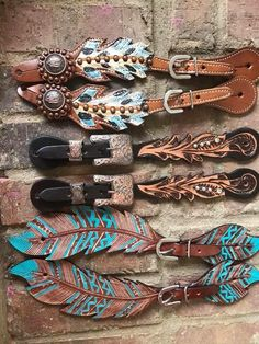 Feather Arrow Spur Straps from Crazy Cowgirl - COWGIRL Magazine