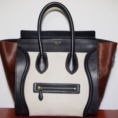 Celine Tricolor Pony Luggage Tricolor Luggage in pony hair. Visible markings of normal use on leather, but pony hair is in perfect condition, as is interior of bag. Can provide any pics or info requested! Celine Bags Totes