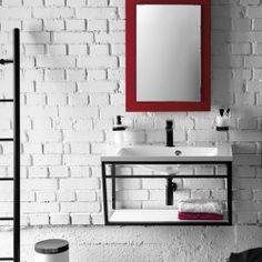 SKA Konstrukce pod umyvadlo/desku, 900 mm, černá mat : SAPHO E-shop Double Vanity, Industrial, Mirror, Bathroom, Storage, Frame, Design, Home Decor, Ska