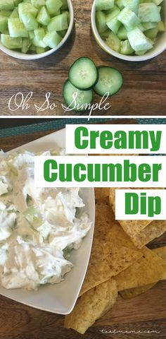 Learn how to make an extremely simple creamy cucumber dip. Great for late minute invites to a friend's BBQ. Pair with tortilla chips, crackers or veggies.