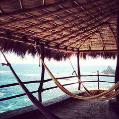 Hamacas #mazunte #secretplace #oaxaca #mexico #magic #pacificview #ocean #hamacas #relax #holidays