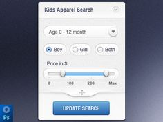 Search widget (PSD)