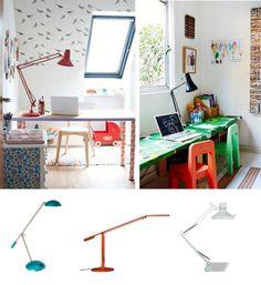 Task Lighting Desk Lamps Red Black