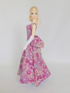 Silkstone Barbie Dress Gown Outfit in Liberty of London print - 'Margaret Annie' 816