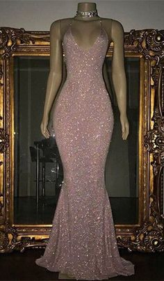 Shiny Blushing Pink Prom Dresses Sequins V-Neck Sleeveless Mermaid Evening Gowns - - blushing pink mermaid sequins prom dresses, Buy high quality discount formal dresses from Yesbabyonline. Shipping worldwide, custom made all sizes & colors. Prom Girl Dresses, Sequin Prom Dresses, Prom Outfits, Dance Dresses, Ball Dresses, Homecoming Dresses, Ball Gowns, Dresses Dresses, Wedding Dresses