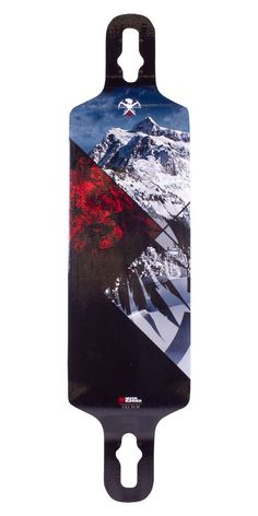 Never Summer Clutch Longboard Skateboard Deck. Cool mountain photos on this board. How about a logo?