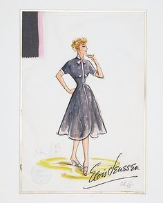 Lucille Ball I Love Lucy RARE Photo of Original Costume Design by Elois Jenssen | eBay