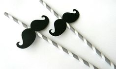 Mustache Party Straws -- I know some people who would find this wonderfully amusing :) whimsicaloccasionsxo on Etsy. Moustache, Mustache Party, Baby First Birthday, First Birthday Parties, Birthday Ideas, Kid Parties, 7th Birthday, Diy Party, Party