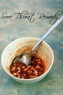 Sore throat remedy