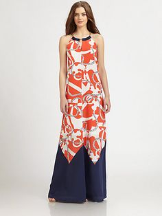 Lilly Pulitzer :  Winnie Maxi Dress   Tango Orange Booze Cruise
