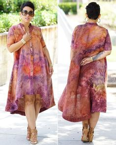 """This shirt dress is the women's freebie pattern in the June issue of…"""" African Print Dresses, African Wear, African Attire, African Fashion Dresses, African Women, African Dress, Diy Fashion, Fashion Outfits, African Design"""