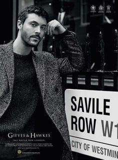 GIEVES & HAWKES Fall/Winter 2015 campaign actor Jack Huston by Alasdair McLellan