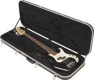SKB - Guitar Case for Most Standard-Size Electric Bass Guitars - Black