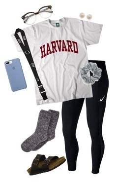 """""""#74"""" by lily141 on Polyvore featuring NIKE, Natasha, Birkenstock and Links of London"""